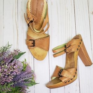 Corso Como Collection Leather Heel Sandals - sz 9